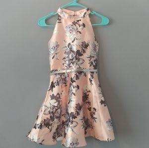 🌼 NWOT Zunie sz 12 pink flower & bow dress girls